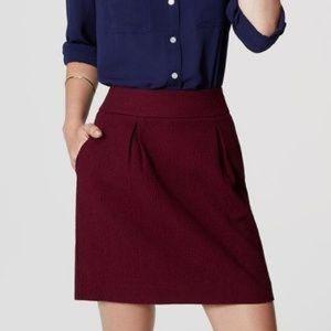 LOFT pleat front skirt